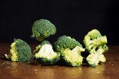 Green, fresh flowerets of broccolli. — Stock Photo