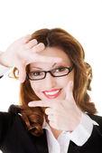 Snapshot of a beutiful business woman. — Stock Photo