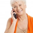An old woman talking through phone. — Stock Photo #36906259