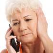 An old lady talking through phone. — Stock Photo #36906275