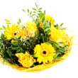 Beautiful bouquet of yellow flowers. — Stock Photo