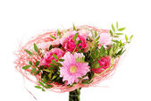 Beautiful bouquet of pink flowers. — Stock Photo