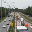 Stock Video: Heavy traffic on the highway.
