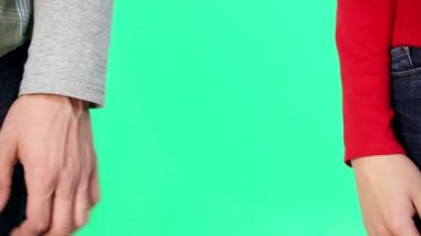 Paar handen — Stockvideo