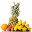 Composition of fresh exotic fruits. — Stock Photo #38368405