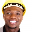Happy successful businesman in helmet. — Stock Photo #38942849