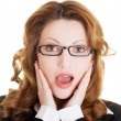 Shocked businesswoman — Stock Photo #38947021