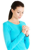 Dua bir beyaz kadın portresi — Stok fotoğraf