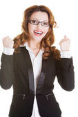 Success, winner businesswoman — Stock Photo