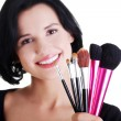 Stock Photo: Young make-up artist woman