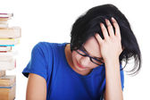 Sad female student with learning difficulties — Stock Photo
