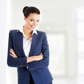 Businesswoman or student in elegant clothes — Stock Photo