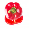 Stock Photo: Two red paprika vegetable.