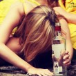 Teen alcohol addiction — Stock Photo #39718787