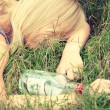 Teen alcohol addiction — Stock Photo #39719003