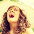 Young woman screaming — Stock Photo #39719557