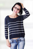 Beautiful young woman ( student ) in casual clothes — ストック写真