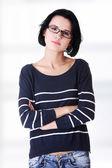 молодая красивая женщина в повседневную одежду — Стоковое фото