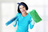 Happy cleaning woman portrait — Stock Photo