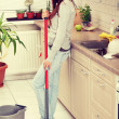 Womholding mop — Stock Photo #39729233