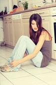 Deprimerad ung kvinna — Stockfoto