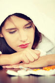 Sick young woman — Stock Photo