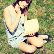 Young woman reading book — Stock Photo #40201067