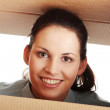 Stock Photo: Thinking inside a box