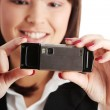 Businesswoman using cell phone — Stock Photo #40468275