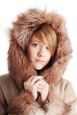 Beautiful winter girl portrait — Stock Photo