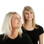 amigos de mulheres jovens feliz rindo — Foto Stock
