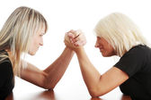 Two woman competition — Stock Photo