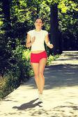 Mujer que corre — Foto de Stock