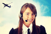 Call center worker — Stock Photo