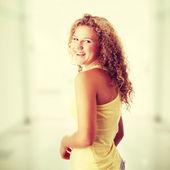 Beautiful caucasian girl — Stock Photo