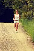 Girl runner. — Stock Photo