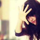 Abused teen — Stock Photo