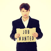 Unemployed businessman — Stock Photo