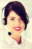 Call center woman — Stockfoto