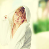 Woman after bath — Stock Photo