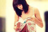 Girl in pyjamas — Stock Photo