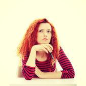 Bored businesswoman — Stock Photo