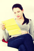 Woman and documents. — Stock Photo
