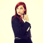 Attractive businesswoman — Stock fotografie