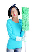 Cleaning woman portrait — Stock Photo