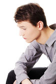 Depressed young business man.  — Stock Photo