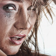 Woman crying - violence concept — Stock Photo