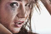 Mulher chorando - conceito de violência — Foto Stock