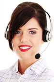 Call center woman — Stock Photo