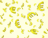3d euro symbol wallpaper  — Stock Photo